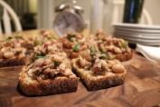 Tuna and cannellini bean bruschetta